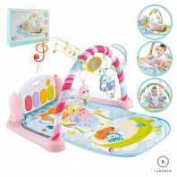 SUPER TOY Baby 5in1 Kick and Play Piano Gym Mat Fitness (Multicolour)