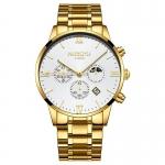 NIBOSI Fashion Men Watches Luxury Business Quartz Watch Men Sport Watch Metal Waterproof Wristwatches Relogio Masculino Saat-2325