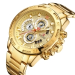 Naviforce Stylish mens watch golden-3372
