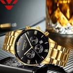 NIBOSI Fashion Men Watches Luxury Business Quartz Watch Men Sport Watch Metal Waterproof Wristwatches Relogio Masculino Saat-3371
