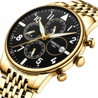 Luxury Brand Watch Mens Quartz Stainless Clock Fashion Chronograph Watch Man Relogio Masculino-3369