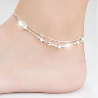 LITTLE STAR WOMEN BAREFOOT BEACH CHAIN ANKLET 5043