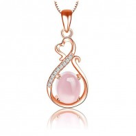 Rose Gold Necklace For Women 5047