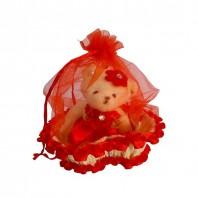 Cute Teddy Bear in a Basket - Red 5053