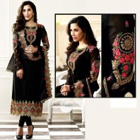 Party wear Chiffon Embroidered suit Un Stitched