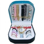 10 in 1 Multicolor Big Dial Ladies Matching Watch - 3069