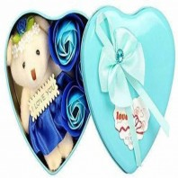 Heart Shape Box With Teddy Valentine's Day Gift 5069