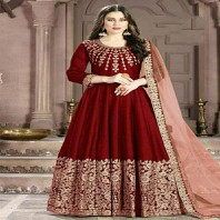Banglori Silk Indian Anarkali Suit