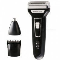 Kemei Waterproof Rechargeable Shaver & Trimmer with Knife -1242