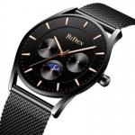 BIDEN Ultra Thin Dial Case Men Wrist Watch Business Style Clock Quartz Watches 3323