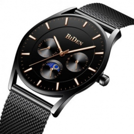 BIDEN Ultra Thin Dial Case Men Wrist Watch Business Style Clock Quartz Watches 3323