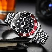 BIDEN Luxury Brand Mens Fashion Sport Quartz Wristwatch Military Full Steel Waterproof Date Clock Gold Watches Gifts For Men