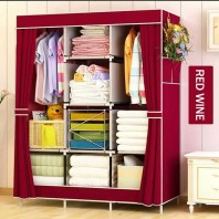 Portable Wardrobe - Fordable Cloth Storage Almira Rack For Easy Life 2621