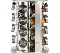 Rotating Spice Rack with 16 Spice Jars-2619