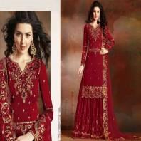 Wedding Wear Heavy Embroidered Work Sharara Style Salwar Suit 4669