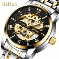 Fashion Hollow Roman Scale With Drill Dial Steel Belt Men's Mechanical Watch 3395