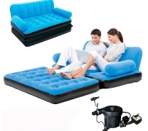 Inflatable Double Sofa Air Bed Couch Blow Up Mattress with Pump-171