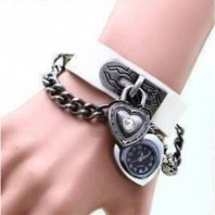 2 Heart Special Bracelet Watch(White)-3068