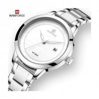 Naviforce Silver Watch Women Luxury Quartz Woman Watches Silver Stainless 3232