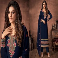 Neavy blue New Indian Georgette Shalwar Kameez