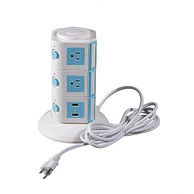 3 Layers with UK 12 Outlets and 6 USB Ports Smart Power Sockets- 2070