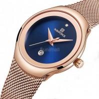 NAVIFORCE 5004 Women Fashion Golden Quartz Watch Lady Casual Waterproof 3227