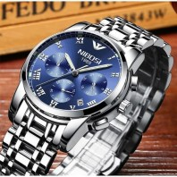 NIBOSI Watch High Quality Man Watches Brand Luxury Stainless Steel Male Clock Top Brand Man Watches Men's Watch Waterproof 3382
