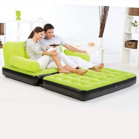 Inflatable Double Sofa Air Bed Couch Blow Up Mattress with Pump-703