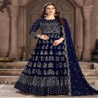 Aanaya Georgette Party Wear Embroidered Work Anarkali Salwar Suit