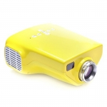 Mini Home Portable LED HDMI Projector - Yellow-2149