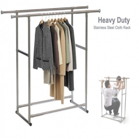 Double pole cloth rack-2513