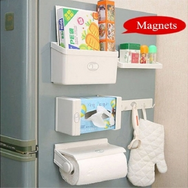 5 in 1 Magnetic Kitchen Organiser Rack -2554