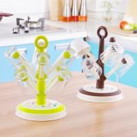 DIY Tree Shape 6 Hook 8 Hook Drain Glass Cup Holder Glass Rack-2560
