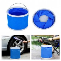 folding water & fishing bucket-2570