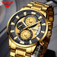NIBOSI 2020 New Men Watch Blue Sports Waterproof Watch Men Fashion Quartz Wristwatch Luminous Chronograph Watch Relogio Masculino