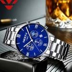 NIBOSI Blue Watch Men Watches Luxury Top Brand Mens Watch Relogio Masculino Navy Blue Military Army Analog Quartz Wrist Watches-3368