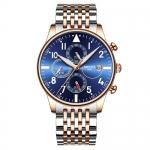 NIBOSI Relogio Masculino Luxury Watch Men Sports Waterproof Chronograph Date Analogue Wristwatch Fashion Leather Quartz Watch-3370