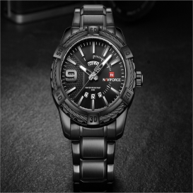 Stylish mens watch water resistant -3004