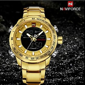 NAVIFORCE LED Digital Business Watch- (golden)-3029