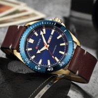 CURREN Leather Watch for Men -3037