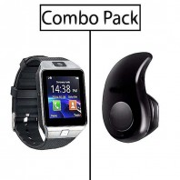Combo of DZ09 Smart Watch and S530 Mini Bluetooth Earphone-3045