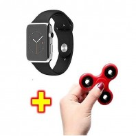 Combo Pack of Q7B Single Sim Sports Watch with Fidget Spinner-3049