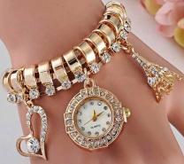 Eiffel Tower Watch Golden ( Gift Box Free) -3073