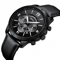 All Black Multifunction watch 3131