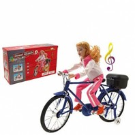 Electric-Music-Walking-Miniature-Bicycle-Lady-4005
