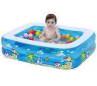 Baby Swimming Pool with Air Pump. With Ball 50 Pcs- 4034