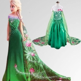 Queen Elsa Dress for kids-4040