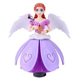 Electric Rotating Princess Dancing Light Music Doll Toy-4058