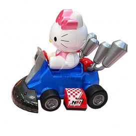 High Powered Karting Hello Kitty Car with Light and Sound Battery Operated-4076