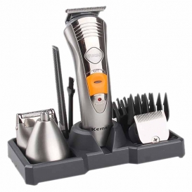 Kemei 2 in 1 Rechargeable Shaver & Nose Trimmer -1214
